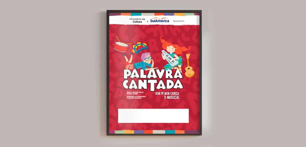 Mídia Impressa de Material Apresentação TeatralImpresso Cartaz Banner feito e criado pela empresa especializada M45 Arte
