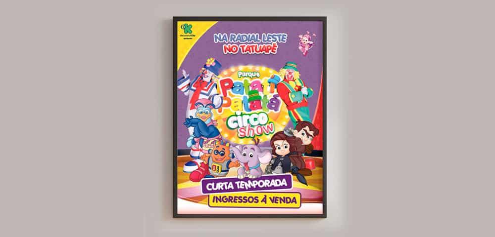 Mídia Impressa de Material Impresso Circo Musical Cartaz Banner feito e criado pela empresa especializada M45 Arte