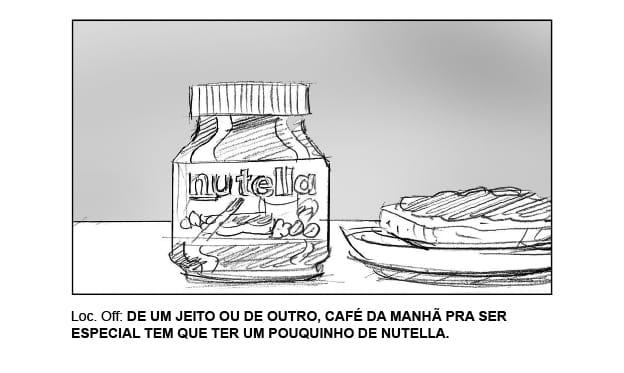 Storyboard Ilustrador para PRopaganda m45 arte Nutella