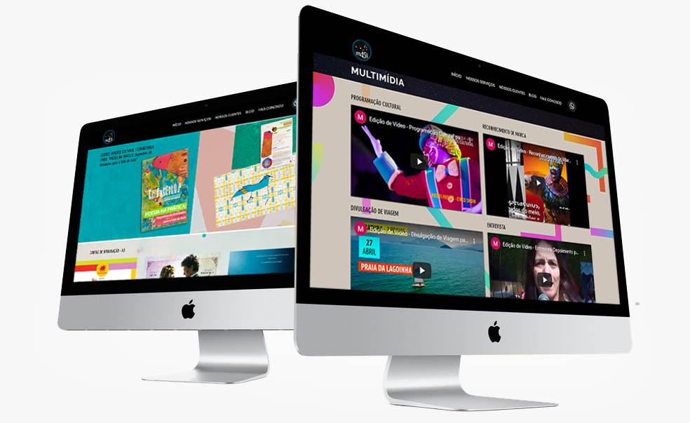 Sites Modernos e Criativos Seguros e únicos feito pela empresa com profissionais especializados em desenvolvimento de Sites M45 Arte