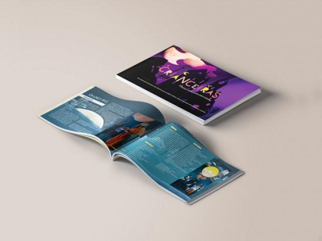 Mídia Impressa de Material Impresso Revista Catálogo Folder Folheto feito e criado pela empresa especializada M45 Arte para musical músicos cultural visibilidade